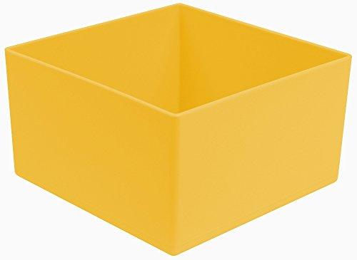 sten/Lagerbehälter, gelb 108x108x63 mm (LxBxH), 1 Packung = 25 Stück ()