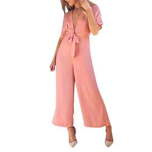 LILICAT_Kleider Damen Lässige Plus Size Jumpsuit Sommer Leinen ärmellose Feste Loose Fit Overall Elegant V-Ausschnitt Kleider Einfarbig Sling Weste Spielanzug Overall