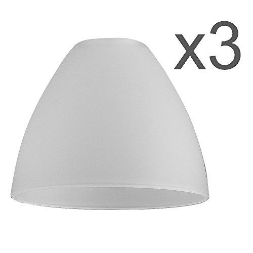3er Set – Ersatzlampenschirmen aus Milchglas mit Marmoroptik in Form einer Schüssel