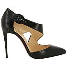 Christian Louboutin Femme 3170404BK01 Noir Cuir Chaussures À Talons