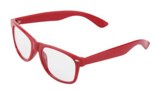 Lunettes de soleil 4026 modèle Nerd -45 couleurs différentes rouge / transparent