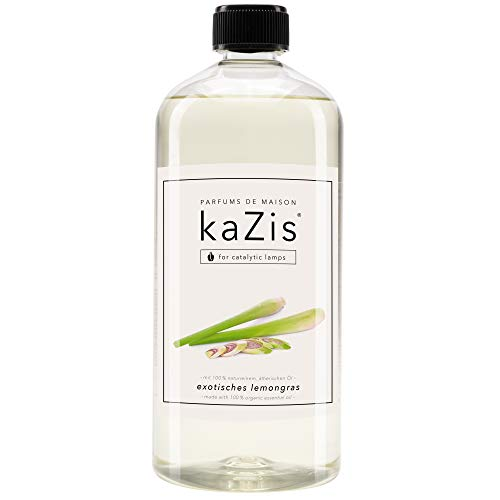 KAZIS I Lemongras Duft I Für alle katalytischen Lampen I Parfums de Maison I Nachfüll-Öl (Refill) I 1000 ml I 1 Liter I Berger