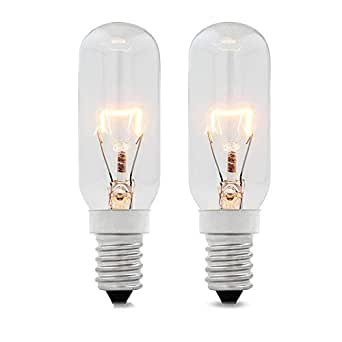 2 x Whirlpool Philips Fischer Oven Cooker 25w 240v SES E14 300ºC Lamp Light Bulb