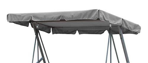 GRASEKAMP Qualität seit 1972 Ersatzdach Universal Hollywoodschaukel Grau Ersatz-Bezug Sonnendach Dachplane -