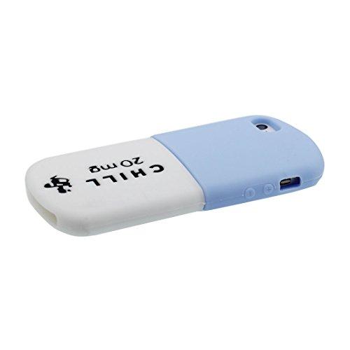 Hülle iPhone 5, iPhone 5S 5C 5G Handyhülle, [TPU materielles flexibles stilvolles - Pill] iPhone SE Cover, iPhone 5S Case Shell, Anti-Beulen- 3D Cartoon Case (Pill) und Touchstift # 3