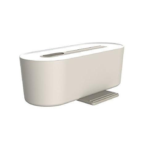 Câble Boîte de rangement, Doulukit Plug Tableau chargeur station de recharge alimentation Fil Boîte de rangement Boîte de rangement pour charger câble de données (–)