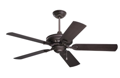 Emerson Ceiling Fans CF552ORB Veranda 52-Inch Indoor Outdoor Ceiling Fan, Wet Rated, Light Kit Adaptable, Oil Rubbed Bronze Finish by Emerson