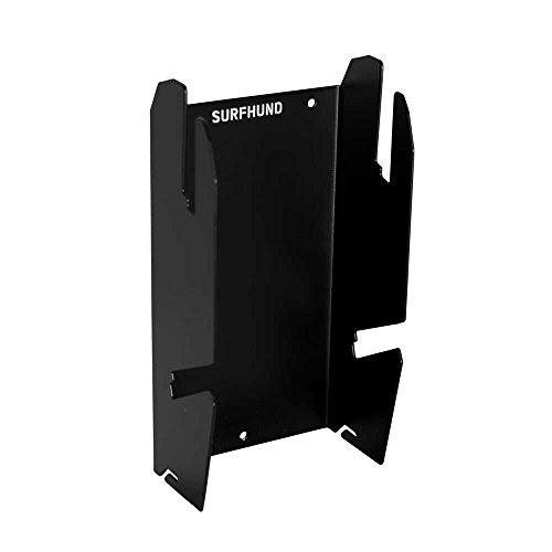 SURFHUND Wandhalterung Double Schräg Kombi: in schwarz oder weiß, Wandhalter für 2 Longboards, Skateboards, Snowboards, Wakeboards und Kiteboards (schwarz)