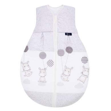 Alvi Baby Kugelschlafsack Molton Hippo silber 972-9, Größe:90