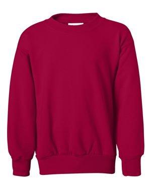 Hanes Youth ComfortBlend® EcoSmart® Crewneck Sweatshirt S Red