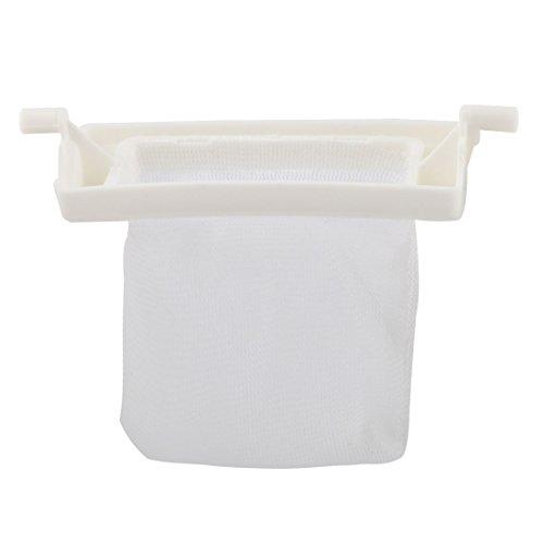 sourcingmap Waschmaschine Kunststoff Rahmen Filterung Mesh Tasche Organizer Halter Weiß