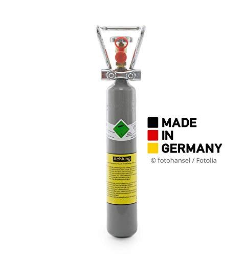Preisvergleich Produktbild 500g Kohlensäure Flasche für Aquarium / 0,5 kg CO2 Flasche/Neue Gasflasche, mit Griff und gefüllt mit Kohlensäure(CO2) nach E290 / direkt vom Abfüller / 10 Jahre TÜV/made in Germany