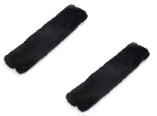 Zone Tech Asiento De Coche Cinturón Hombro Pad-Lote de 2Classic color negro de alta calidad suave y cómoda asiento cinturón Hombrera suave y cómoda