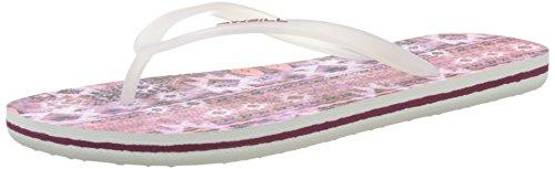 Oneill - Chanclas Estampadas Fw, Zapatos De Playa Y Piscina Para Mujer Violetas (aop W Rosa)