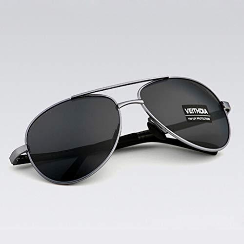 TJJQT Sonnenbrillen Herrensonnenbrille Markendesigner Pilot Polarized Male Sun Glasses Eyeglasses Men