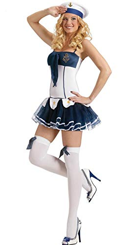 MAIMOMO Fun-Unterwäsche Führende Tanzkostüm Halloween Weibliche Pirate Kostüm Ds Uniform Versuchung Rolle Spielen Weihnachten Hexe Teufel Cos, Weiß, Eine Größe