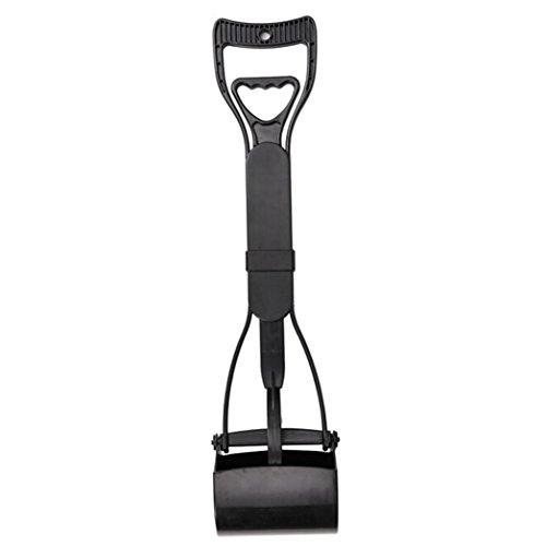 transerr-pet-poop-scoop-long-handle-dog-pooper-scooper-pick-up-excreta-cleaner-black