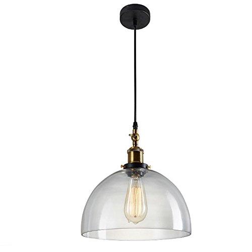 GRFH Glas Pendelleuchten Schatten Glas Lampe Restaurant Friseur Laden Deckenleuchte Transparent Metall Hängegelenk Pendelleuchte E27 110V-240V , zd2015-2 bronze
