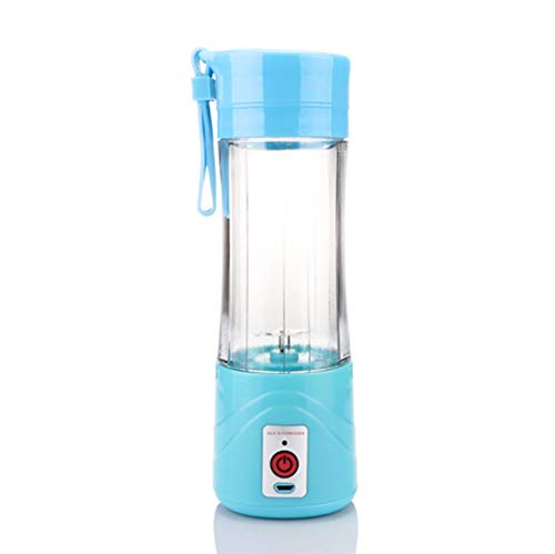 YRRC 380 Ml Smoothie Mixer Katze Outdoor Mini Saft Tasse USB Elektrische Entsafter Multifunktionale Tragbare Obstschale Saft Tasse,Blue
