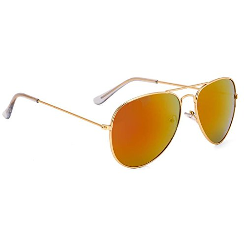 Elligator Stylish Aviator Mirrored Unisex Sunglasses Combo