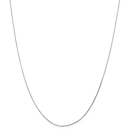 IceCarats Designer Jewellery 14K Wg .70Mm Octagonal Snake Chain In 16 Inch