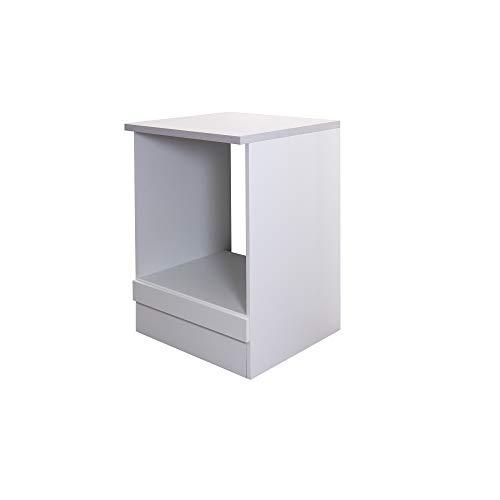 Flex-Well Herdumbauschrank UNNA   Ofenschrank für Backofen   Breite 60 cm   Weiß