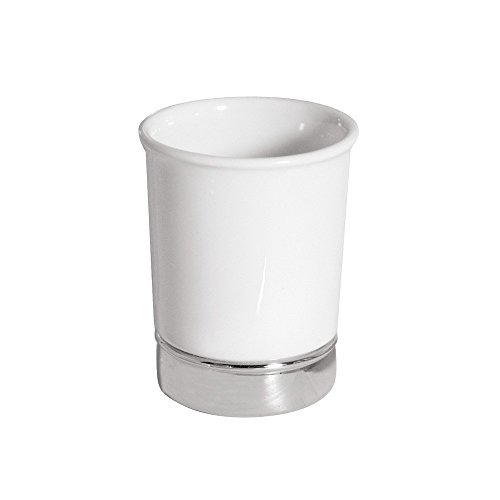 InterDesign White York Ceramic Toothbrush Holder Stand