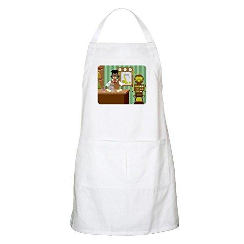 Affe Steampunk Wissenschaftler Schürze-Küche Schürze mit Taschen, Grillen Schürze, Backen Schürze weiß ()