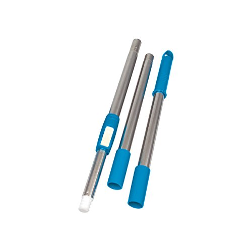 Primeway Magic Spin Mop 3 Section Lock Handle Rod Set, Blue  available at amazon for Rs.249