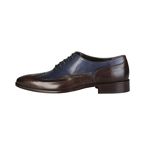 Made In Italia - TIBERIO Oxford Chaussures De Ville À Lacets Homme 100% CUIR VÉRITABLE