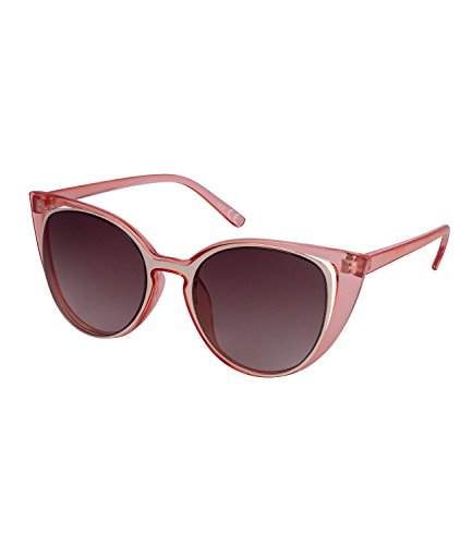 SIX Sommer, Damen Sonnenbrille, Sonnenschutz, Cat Eye Rahmen, braun, rosa, goldfarben (324-336)