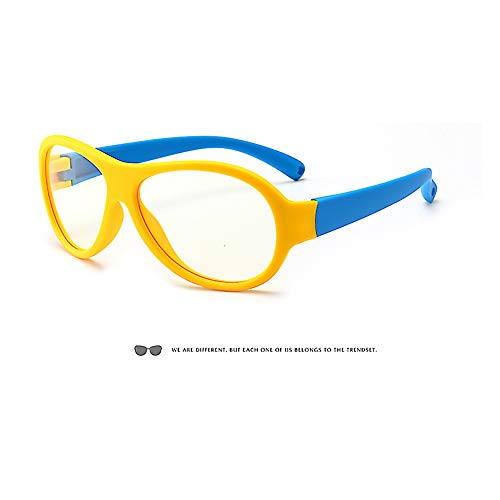 (Kinder-Schutzbrille mit blauem Licht – Anti-400-UV-Computer-Spiel-Brille für Studenten, klassische Brille für Jungen und Mädchen)