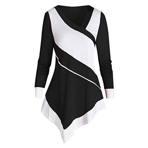 PYUIYY Langarm-Pullover für Damen mit Reißverschluss und Wasserfallausschnitt O-Neck-Pullover mit Tasche Lose Street-Tops -