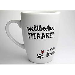 Geschenk für Tierarzt, Tierarzt Geschenk, personalisierte Tasse mit Hundenamen