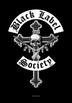 Black Label Society Flagge Kruzifix schwarz. Offiziell lizenziert