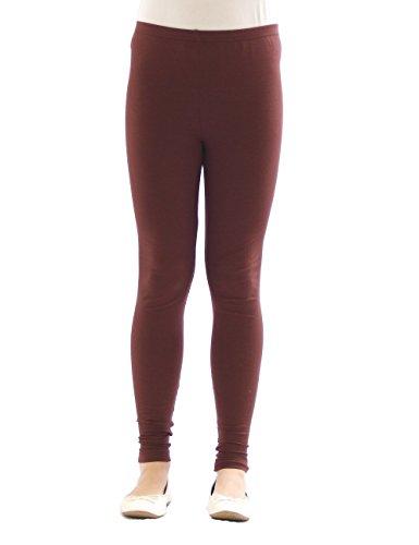Kinder Mädchen Leggings lang blickdicht aus Baumwolle Hose Jungen Braun 140