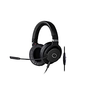 Cooler Master MH751 Gaming Headset with 2.0 Hi-Fi Stereo - PC & Console Compatible, 40mm Neodymium Audio Drivers, Crystal Clear Boom Mic and Lightweight Frame - 3.5mm Standard Jack