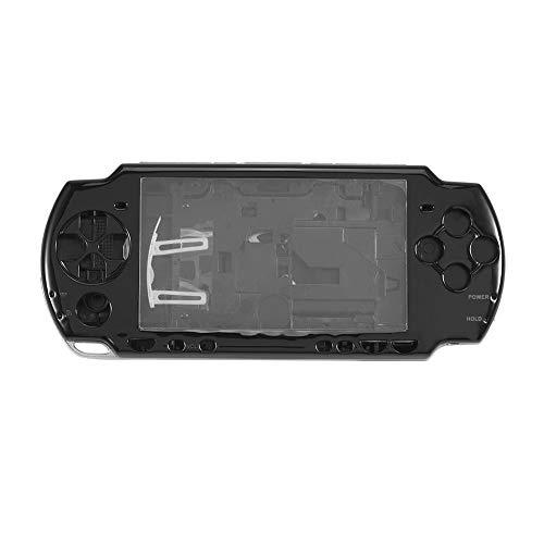 Gehäuseabdeckung Ersatz-Schutzhülle für die Spielkonsole Hard Case-Abdeckung Reparatur-Teile-Kit für SONY PSP 2000 Vollständiger Reparatur-Cover-Case-Kit für SONY PSP 2000 mit Tasten (Schwarz) Faceplate Hard Phone Cover