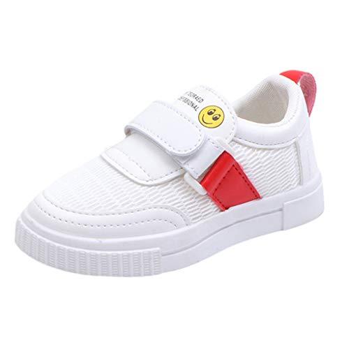 Oyedens Kleinkind Kinder Schuhe Cartoon LäCheln Mesh Atmungsaktive Schuhe WeißE Sportschuhe Bequeme Solide Mesh Turnschuhe Unisex Jungen Mädchen Laufschuhe Hallenschuhe Kinder 3-12 Alter -