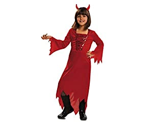 My Other Me - Disfraz de demonia, para niños de 7-9 años, color rojo (Viving Costumes MOM00063)