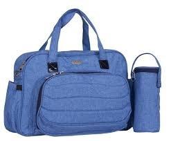 Preisvergleich Produktbild M & Y 6490 Wickeltasche Buggy oder Kinderwagen Farbe:Hellblau