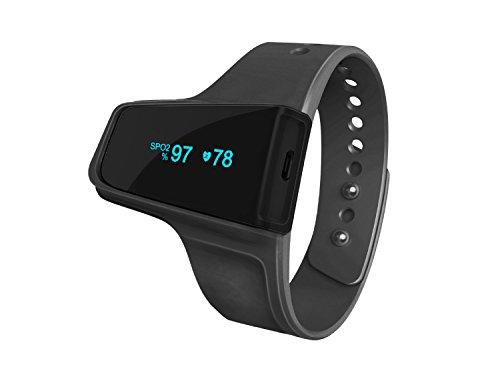 Handgelenk Pulsoximeter kabellos und O2Monitor–checkme O2+ Sport und Schlafen Pulse Monitor