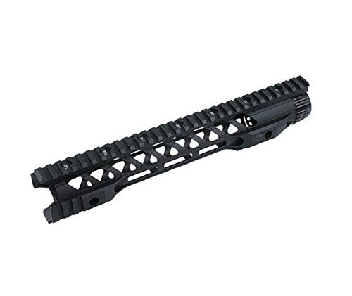 OAREA 12 14 Inch MLOK Keymod Handguard Free Float Super Slim AR 15 Handguard Quad Rail for M4 M16 Airsoft