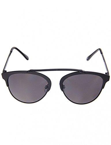 Leslii schwarze Damen-Sonnenbrille New Style Piloten-Look Schwarz Metall Designer-brille