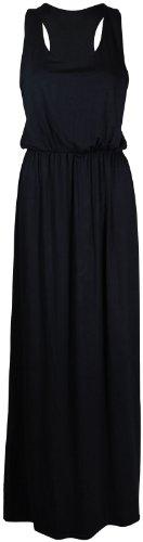 Neue Frauen Plus Size ärmel Puff Bowl Racer Zurück Muscle Vest maxi 36-50 Black