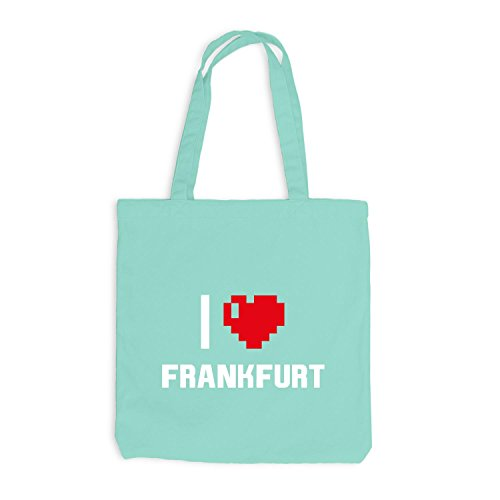 Frankfurt Jutebeutel Herz I Mint Reisen Heart Deutschland Pixel Love ZSEFS