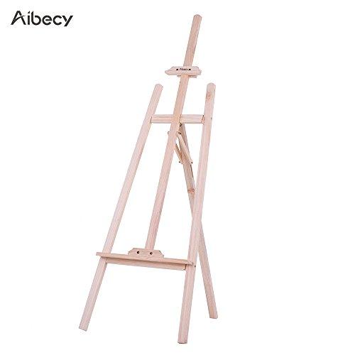 Aibecy Chevalet en bois de Pin Très stable - Hauteur et Inclinaison Réglable - Hauteur: 150cm / 59 pouces