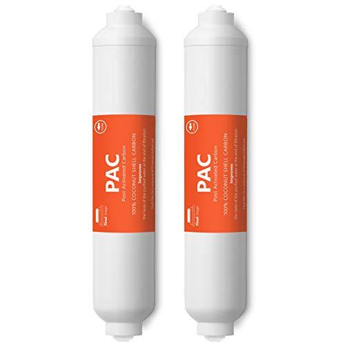 Express Water 2er-Pack Beitrag Aktivkohle Pac Wasserfilter Ersatz 5 Micron Inline-Filter 10-Zoll-Quick Connect Unter Waschbecken und Umkehrosmose-Anlage -