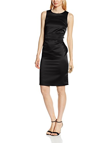 HotSquash Lucy Pleat Waisted, Robe Femme Noir