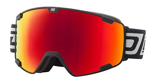 Dirty Dog Avalanche Erwachsene Herren Damen Skibrille in matt schwarz/rot Fusion Objektiv